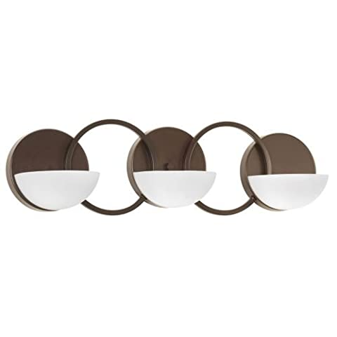 Progress Lighting P2035-20 Engage 3-Lt. Bath and Vanity Fixture with Etched Opal glass shades - Etched Opal Glass Shade
