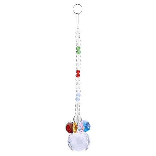 Yosooo Clear K9 Glass Crystal Glass Pendulum Lamp Prisms Parts Pendants Hanging Wedding X'mas Ornament (Transparent) (Christmas Transparent Ornaments)
