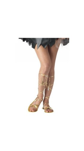 Goddess Sandal Costume Accessory - Medium (7-8) (Greek Goddess Sandals)