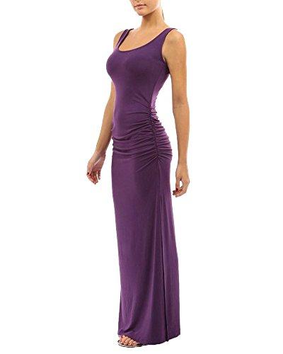 Abito Vestiti Sera Formale Vestito Banchetto Rosso Elegante Viola Donna Lunghi 0ETwxq5T