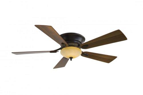 Large Fan Delano - Minka Aire F711-DRB, Delano II, 52' 5 Blades, Ceiling Fan, Dark Restoration Bronze