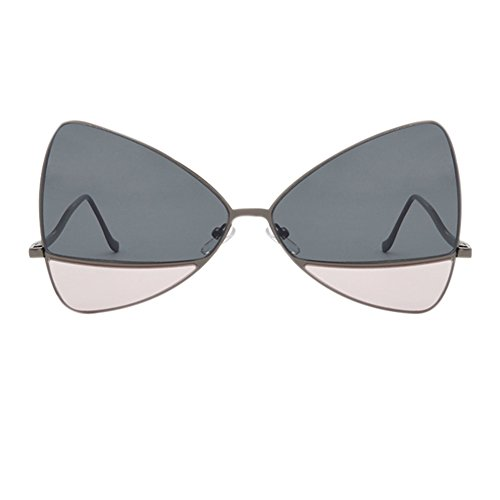 Soleil Retro Frame Tinted Oversize de UV400 Ansemen lunettes Gris Fête de Lunettes Butterfly Photo Lens Rose Lunettes Metal FYxIwwPq