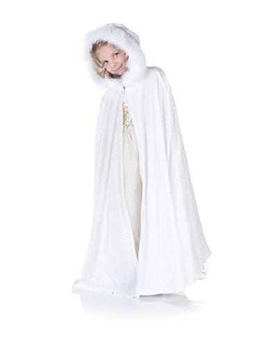 Fur Velvet Costumes (Underwraps Panne Kids Cape, White)
