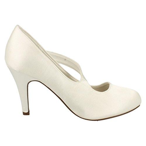 Damen schöner Braut Assymetric Bow Band Wedding Shoes Anne Michelle uaeqMzN1Me