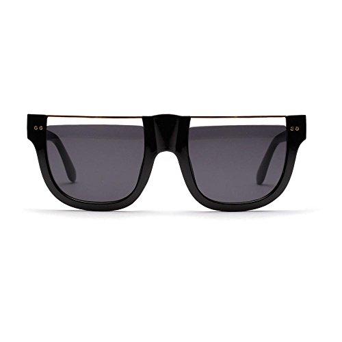 sol sol gafas TL de de para Gafas cuadrado gafas de grande normal gafas enormes Sunglasses marco sombras hombres mujer personalidad verde Blu marco medio de qnt6a