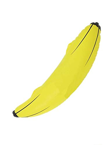 (Smiffys Inflatable Banana, Yellow, Plastic, 28 inches,)