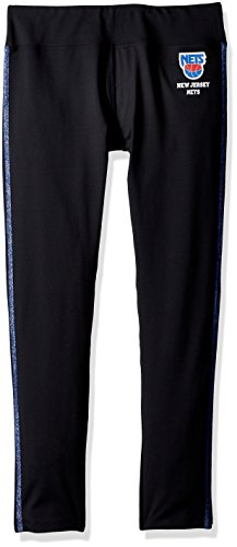 GIII For Her NBA New Jersey Nets Women's Warm Up Leggings, X-Large, Black