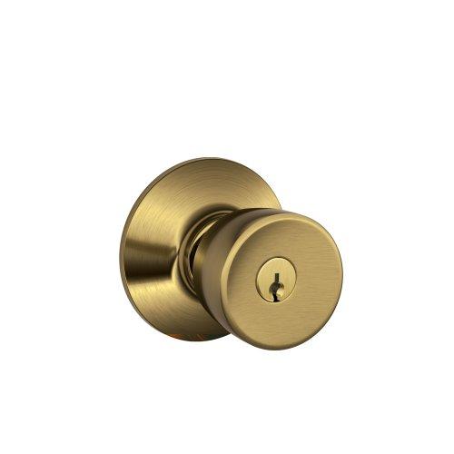 Schlage F51VBEL609 Bell Entry Knob , Antique Brass (Brass Keyed Entry Bell)