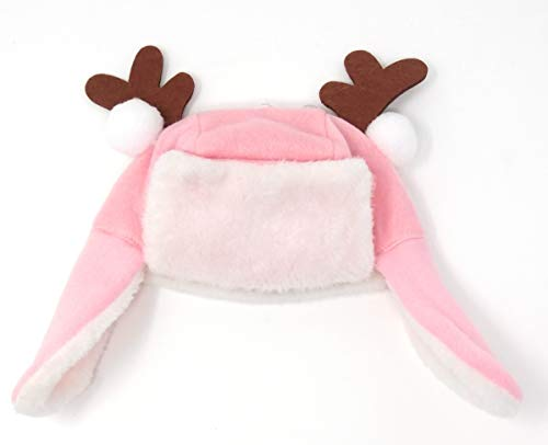 Baby's First Christmas Hat - A Holliday Style with Reindeer Ears (Pink) ()
