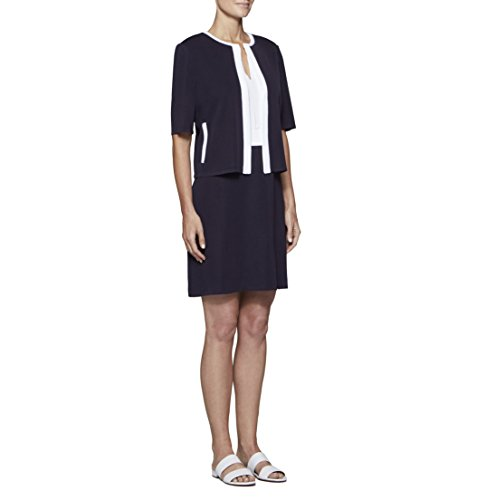 MISOOK Women's Cropped Jacket With Contrast Trim K3150AC (M) by MISOOK (Image #2)