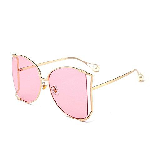 de D de estilo viaje metal de Gafas sol vintage Gafas de Caja irregular de Alger B moda grande TqO0B7w