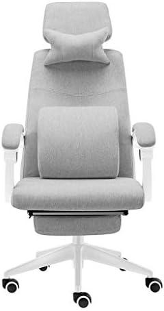 DJPP Tabouret de Bar Chaise de Bureau, Chaise Pivotante Flexible Avec Hauteur Réglable Et Coussin Éponge Doux Pour Salle de Conférence À Domicile - Gris
