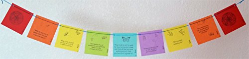 Tiny Rumi Prayer Flag. All proceeds to charity. Free domestic shipping. We can enclose a gift note.