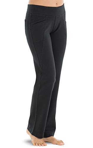 PajamaJeans Stretch Jeans for Women - Yoga Jeans, Bootcut, Black, Medium / 8-10 ()