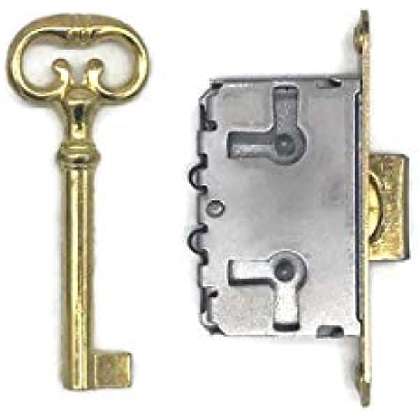 locker pantry lock with 2 original keys antique cupboard