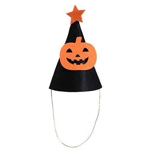 BESTOYARD Cute Halloween Party Hats Kids Pumpkin Decor Hat Cap with Band for Halloween Trick or Treat Decoration (Black)