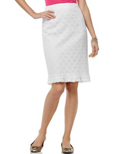 Sunny Leigh Skirt Pencil Lace Ruffle Size: - Sunny Skirts Leigh