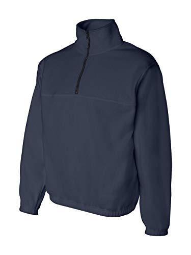 Casual Sierra Jacket - Sierra Pacific Mens Quarter-Zip Fleece Pullover 3051 -Navy L