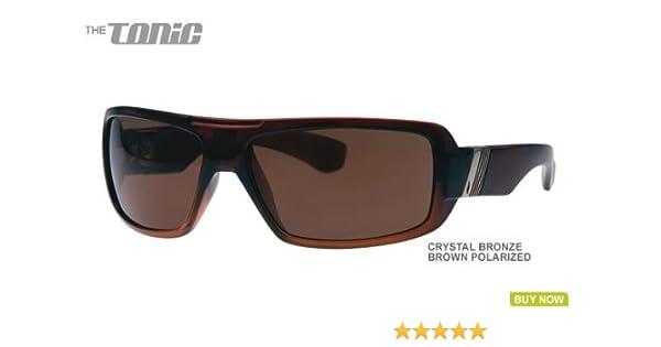 e78e7be6cd Amazon.com  Pleasure Ground Eyewear Polarized Tonic Sunglasses CLOSEOUT  Crystal Bronze  Clothing