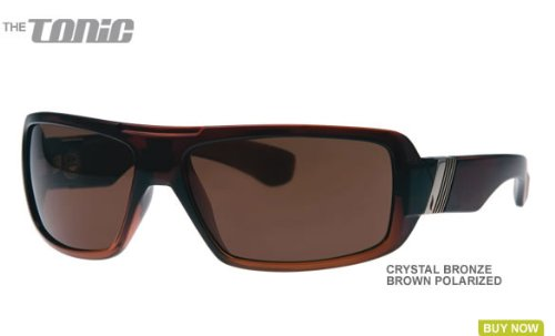 Pleasure Ground Eyewear Polarized Tonic Sunglasses CLOSEOUT Crystal - Closeout Sunglasses