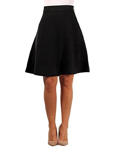 Sag Harbor Ladies Swing Skirt, Black, Size - Sag Skirt Black Harbor