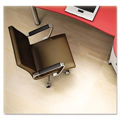 Clear Polycarbonate All Day Use Chair Mat For Hard Floor, 36 X 48 By: deflect-o by Office Realm
