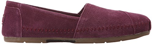 Skechers Bobs Från Womens Luxe Fashion Slip-on Flat Plommon Mocka