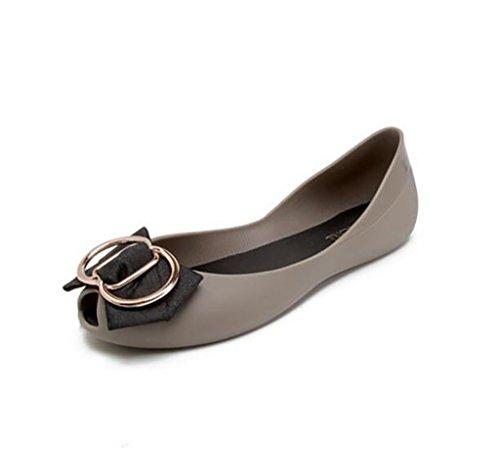Women's shoes, flat comfortable women's sandals, non-slip sandals, hollow fashion jelly shoes Flat Sandals,Fashion sandals (Color : A, Size : 39) B