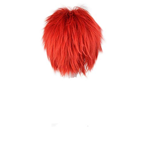 COSPLAZA Anime Costume Party Cosplay Short Curly Wig Red]()
