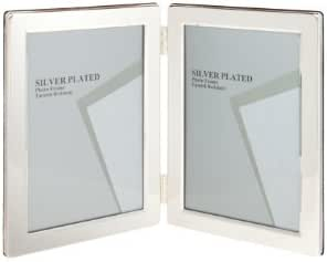 Viceni Silver Plated Double Aperture Picture Photo Frame, 4 by 6-Inch