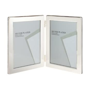 Amazon.com - Malden Double 3.5x5 Picture Frame - Wide Real Wood ...