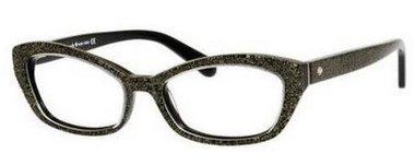 Kate Spade Cristi Eyeglasses-0JLQ Black Gold Glitter -50mm