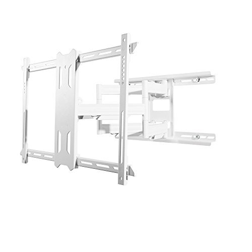 Kanto Full-Motion TV Wall Mount for 37-inch to 75-inch Flat-Screen Monitor – Easy Install – White