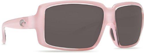 Costa Del Mar Miss Britt Women's Polarized Sunglasses, Coral/Gray 580P, - Pink Costa Womens Sunglasses