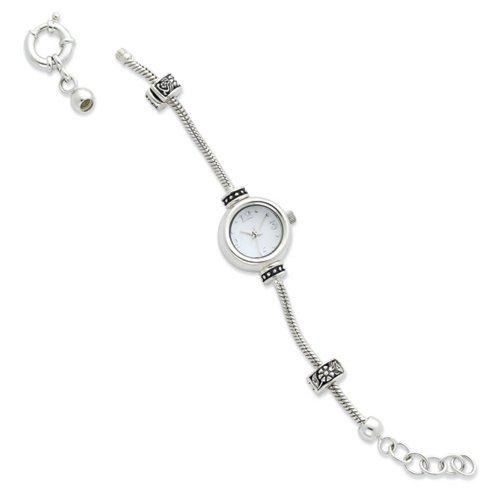 Icecarats Créatrice De Bijoux En Argent Sterling Réflexions Visage Rond Regarder À Long Bracelet Démarreur