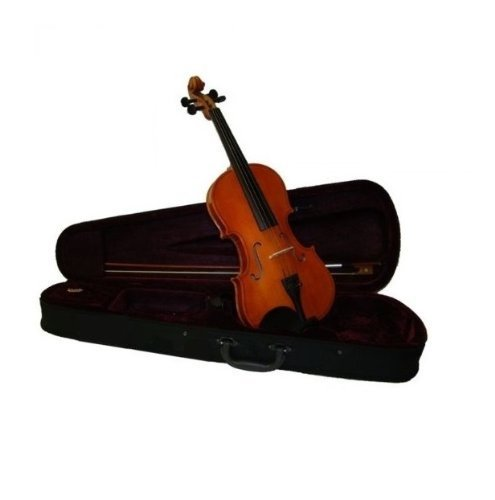 GRACE 11 inch Natural Viola with Case and Bow + Free Rosin by Grace