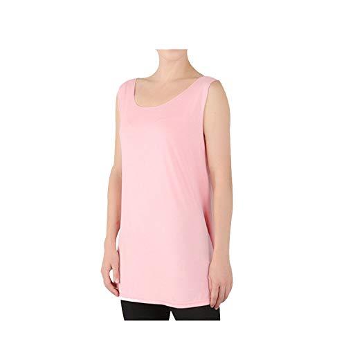 Split Basic Tops Women Sleeveless Women Tanks Female Tops,Pink,6XL ()