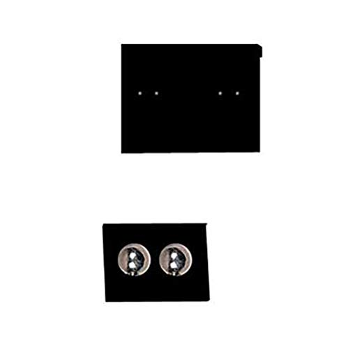 1 ½ inch Square Black Velour Earring Cards - Pack of 100 ()