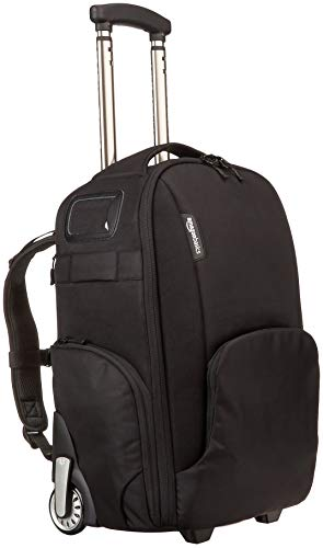 AmazonBasics Convertible Rolling Camera Backpack (Renewed) ()
