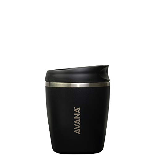 Avana C03632 Sedona Stainless Steel Double-Wall Insulated Thermal Tumbler, 10oz, Onyx (Best Insulated Coffee Tumbler)