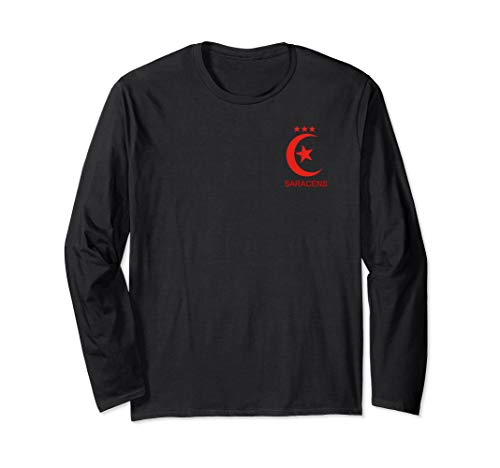 - Saracens Rugby T shirt vintage crest 3 champions cup stars Long Sleeve T-Shirt