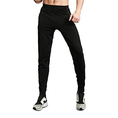 Beautyfine Men Elastic Sport Work Pants Band Pocket