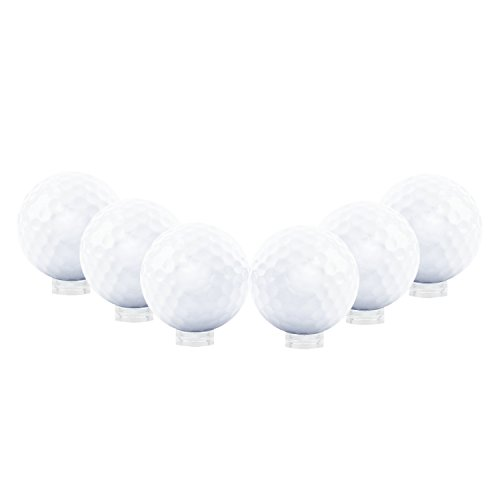 "Houseables Ball Display, Beveled Ring Stand, 12 Pack, Clear, Small, .63"" D x ¼"" H, 5/8"", Acrylic, Golf Balls Case, Holder For Marbles, Eggs, Round Sphere Pedestal Rack"