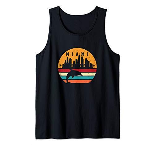 - Vintage Miami 80s Dolphin Silhouette Souvenir Dolphin lovers Tank Top
