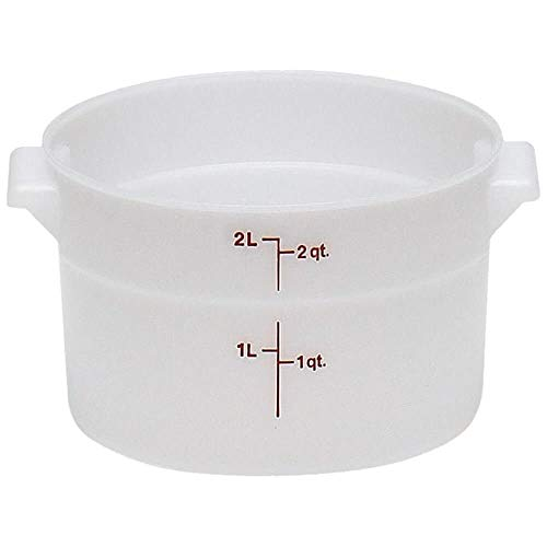 (Cambro RFS2148 White Poly Round 2 Qt Storage Container )