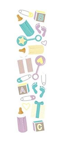 - KAREN FOSTER Design Scrapbooking Clearly Stickers, Baby Shower, 12 x 12