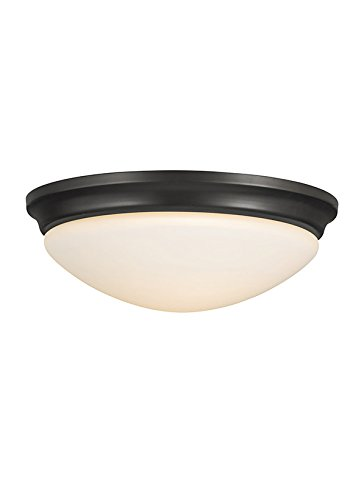 16.5' Wide Ceiling Fixture (Murray Feiss FM273ORB Barrington 3 Light Indoor Flush Mount, Oil Rubbed Bronze)