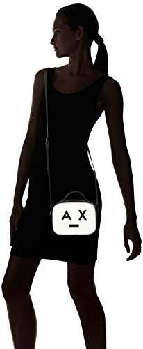 Bandolera Bolsos white Mujer black Exchange Bag Small Crossbody With Logo Armani Blanco 0Y6Pqnq
