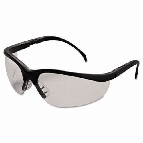 Crews Klondike Safety Glasses, Matte Black Frame, Clear Lens