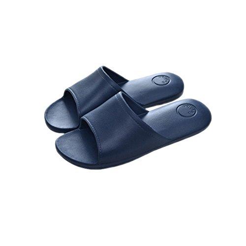 Tellw Donna Estate Coppia Giapponese Bagno Doccia Pantofole Fresche Eva Fondo Morbido Pantofole Casa Antiscivolo Blu